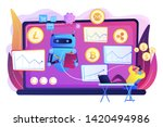 cryptocurrency mining software  ... | Shutterstock .eps vector #1420494986