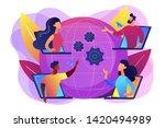colleagues business meeting ...   Shutterstock .eps vector #1420494989