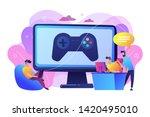 computer gaming industry ... | Shutterstock .eps vector #1420495010