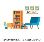 living room with couch and... | Shutterstock .eps vector #1420503440
