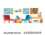 living room with sofa and desk...   Shutterstock .eps vector #1420503449
