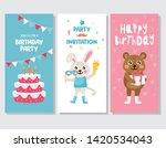 set of invitation or greeting... | Shutterstock .eps vector #1420534043