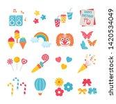 big set of birthday party... | Shutterstock .eps vector #1420534049