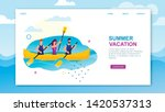 summer vacation landing page... | Shutterstock .eps vector #1420537313