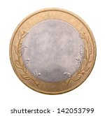 blank gold and silver coin...