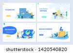set of landing page template... | Shutterstock .eps vector #1420540820