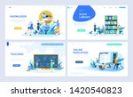 set of landing page template... | Shutterstock .eps vector #1420540823
