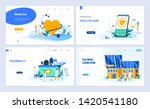 set of landing page template... | Shutterstock .eps vector #1420541180