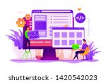 developers create internet app. ... | Shutterstock .eps vector #1420542023