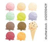 set of cartoon icons. ice cream ... | Shutterstock .eps vector #1420550429