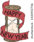 happy new year hourglass... | Shutterstock .eps vector #1420552736
