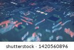 circuit board conducts electric ... | Shutterstock . vector #1420560896