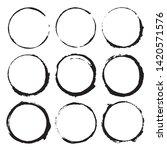 round frames  grunge textured... | Shutterstock .eps vector #1420571576