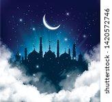 islamic greeting eid mubarak... | Shutterstock .eps vector #1420572746
