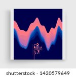 aurora borealis. cover design... | Shutterstock .eps vector #1420579649