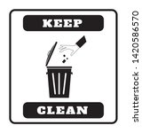 keep clean sign on white... | Shutterstock .eps vector #1420586570