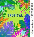 summer vector illustration with ... | Shutterstock .eps vector #1420592909