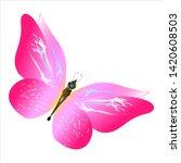 beautiful pink butterflies... | Shutterstock .eps vector #1420608503
