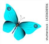 beautiful butterflies  blue... | Shutterstock .eps vector #1420608506