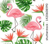 Flamingo Seamless Pattern....