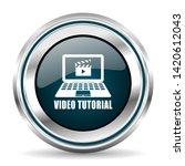 video tutorial vector icon....   Shutterstock .eps vector #1420612043