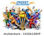 illustration of batsman player... | Shutterstock .eps vector #1420613849