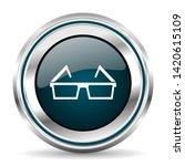 eyeglasses vector icon. chrome...   Shutterstock .eps vector #1420615109