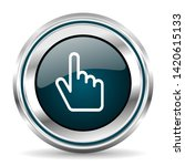 cursor hand vector icon. chrome ...   Shutterstock .eps vector #1420615133