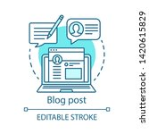 Blog Post Blue Concept Icon....