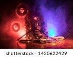 old vintage movie projector on...   Shutterstock . vector #1420622429