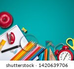 stationery for study at school... | Shutterstock . vector #1420639706