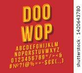 doo wop vintage 3d vector... | Shutterstock .eps vector #1420643780