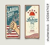 happy labor day america flag... | Shutterstock .eps vector #1420647419