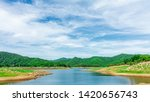 lake and mountain in summer.  ... | Shutterstock . vector #1420656743