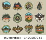 vintage summer recreation logos ... | Shutterstock .eps vector #1420657766
