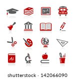 education icons    redico series | Shutterstock .eps vector #142066090