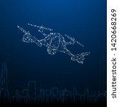 drone futuristic design... | Shutterstock .eps vector #1420668269