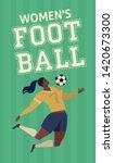 womens european football ... | Shutterstock .eps vector #1420673300