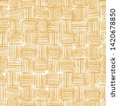 vector wicker texture. hand... | Shutterstock .eps vector #1420678850