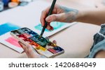 talent and creativity. cropped... | Shutterstock . vector #1420684049