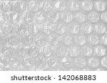 Plastic Gray Bubble Wrap Macro...