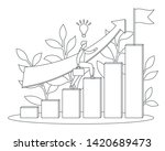 businessman or student climbs...   Shutterstock .eps vector #1420689473