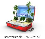 open baggage  vacation concept | Shutterstock . vector #142069168