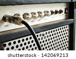 Close Up Of Guitar Amplifier...