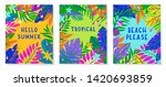 set of summer vector... | Shutterstock .eps vector #1420693859