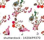 flowers fashion fabric pattern... | Shutterstock . vector #1420699370