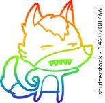 rainbow gradient line drawing... | Shutterstock .eps vector #1420708766