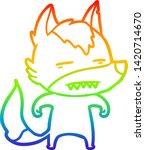 rainbow gradient line drawing... | Shutterstock .eps vector #1420714670