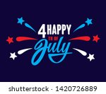 happy fourth of july... | Shutterstock .eps vector #1420726889