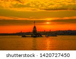 maiden's tower in istanbul and... | Shutterstock . vector #1420727450